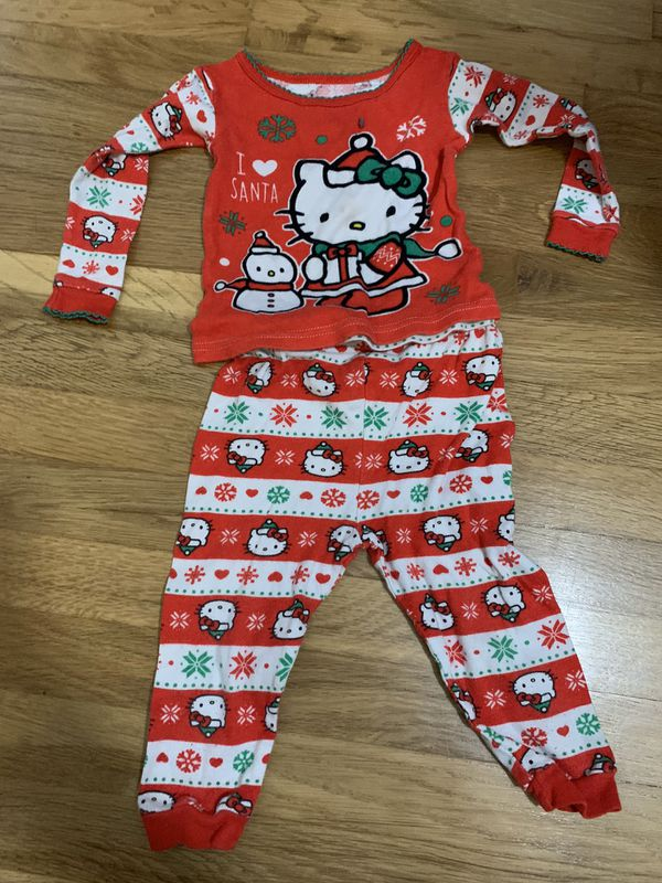 18 months Hello Kitty Christmas Pajamas