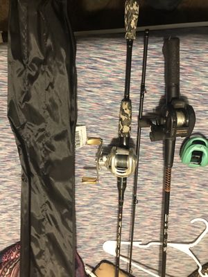 Fishing pole and reels for Sale in Shelbyville, TN
