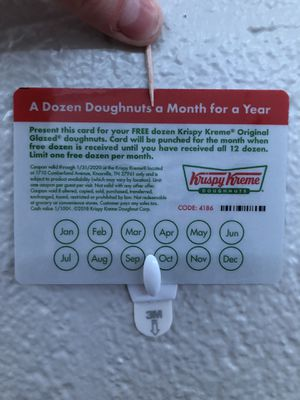 Krispy Kreme 12 Dozen Donuts Punchcard for Sale in Knoxville, TN