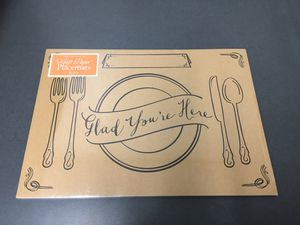 Pack of 24 Kraft Paper Placemats for Sale in Saint Petersburg, FL