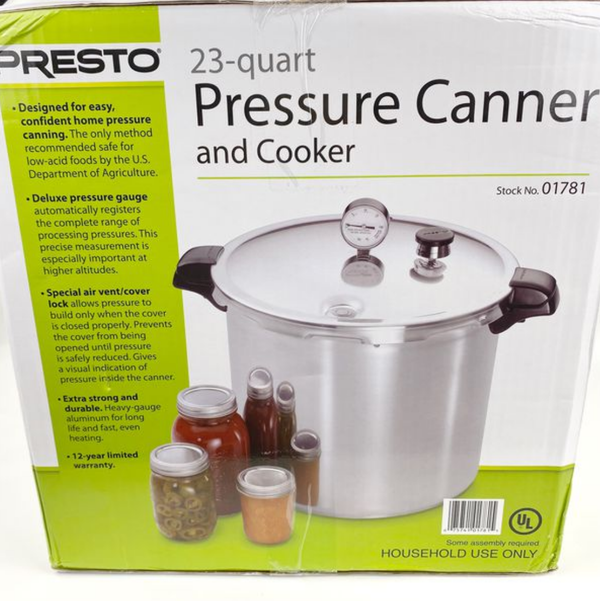 Presto 23 Quart Aluminum Pressure Canner and Cooker 01781 Mason Jar Canning NEW
