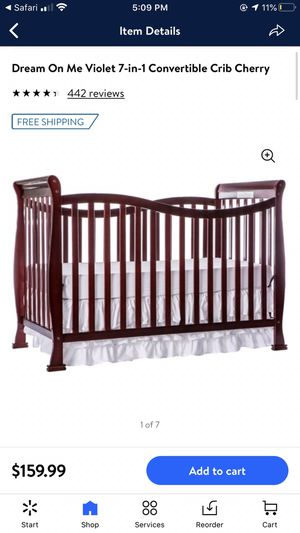 Crib with changing table. NEW never used for Sale in Sacramento, CA