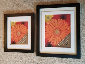 Set of black frames with matting and free 3rd frame! for Sale in Maple Valley, WA