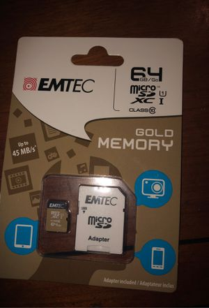 EMTEC- Gold Memory 64 GB up to 45 MB for Sale in Plainfield, IL