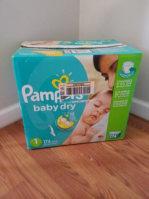 Pamper diapers size 1 : 174 count for Sale in Lakehurst, NJ