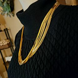 Very Nice gold tone multistrand statement necklace for Sale in Lacey,  WA