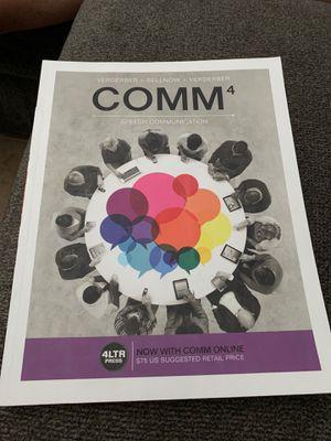 comm 4 speech communication college textbook for Sale in San Antonio, TX