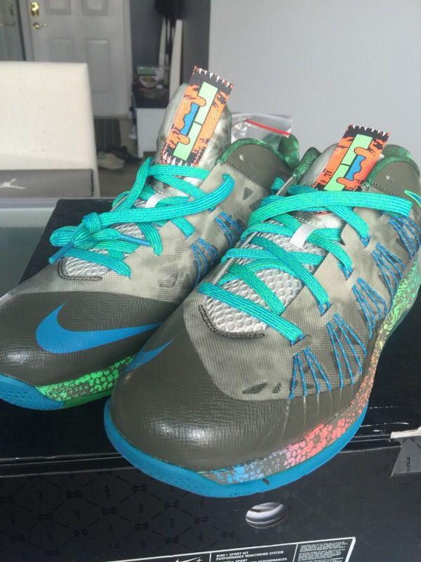 designer fashion 59084 fa6c8 Nike Air Max Lebron 10 low Swamp Thing Reptile