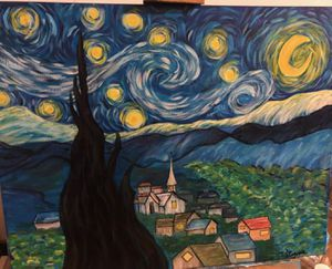 Starry night Rendition (Hand painted) for Sale in Orange, CA