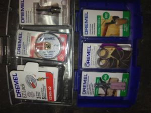 Assorted Dremel EZ-Lock kits and Sanding, Grinding attachements for Sale in Eugene, OR