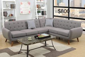 New Mid Modern Century Sectional Couch only $50 down payment for Sale in Los Angeles, CA