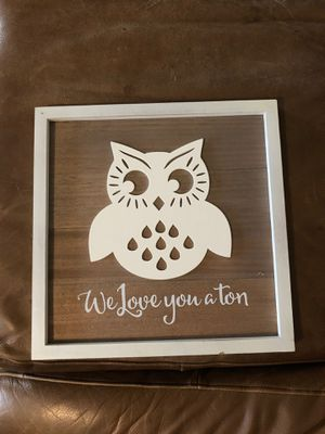 Owl wall decor for Sale in Georgetown, TX