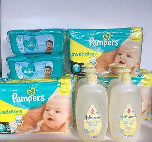 4 Pampers + 4 Wipes Bundle + 4 Johnson's Baby Washes ! -$50 for Sale in Kissimmee, FL