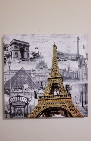 Paris Eiffel Tower Canvas Art Room Decor for Sale in Round Rock, TX