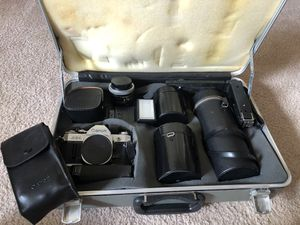 Canon AE1 with case and all lenses for Sale in Henderson, NV