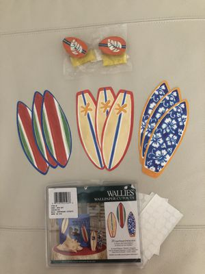 Surf board theme decor- Wallies and drawer handle set for Sale in JUPITER INLET, FL