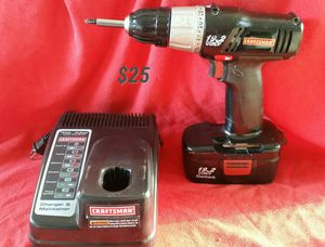 Craftsman 19.2v Cordless Drill & Charger for Sale in Clovis, CA