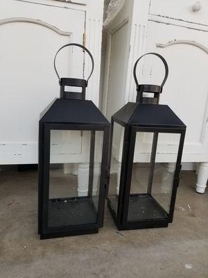 Par de linternas.estan nuevas son grandes de metal for Sale in Fontana, CA