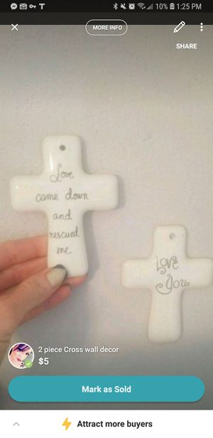 2 piece cross wall decor set for Sale in San Angelo, TX