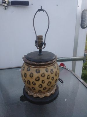 Beautiful safari table lamp for Sale in Fort Myers, FL