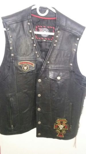 Vintage Leather Motorcycle Vest size 2XL for Sale in Orange, CA