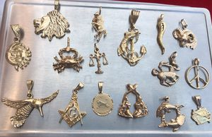 Lot of 16 Charm 14kGold Filled High Quality. for Sale in Los Angeles, CA