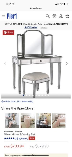 Mirrored Vanity Set for Sale in Ceres, CA