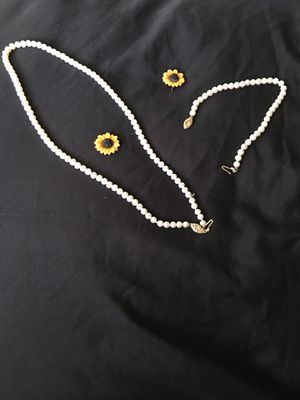 14k gold pearl and brooch set for Sale in Falls Church, VA