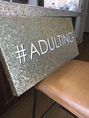"wall art decor, Colleen Karis #Adulting 24"" x 12"" // enjoy decor 8"" x 10"" for Sale in Scottsdale, AZ"