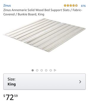 King wood bed frame slats - gently used for Sale in Phoenix, AZ