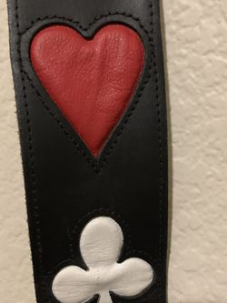 Guitar Strap Leather Spades, Clubs, Diamonds, Hearts for Sale in Chandler,  AZ