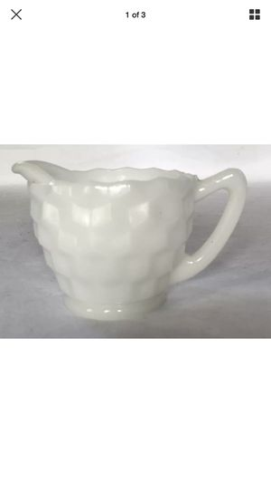 Milk Glass Vintage White Handle Creamer Pour Spout Collectible for Sale in Woonsocket, RI