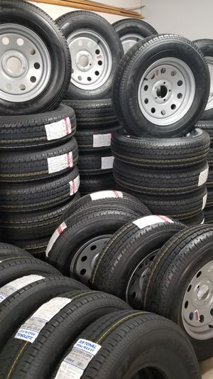 NEW TRAILER TIRES AND WHEELS STARTING AT $70+TAX AND UP ( CAMPER TIRES/WHEELS TOO) for Sale in Douglasville, GA