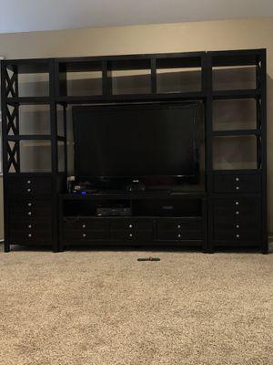 Beautiful brown modern entertainment center for Sale in Lufkin, TX