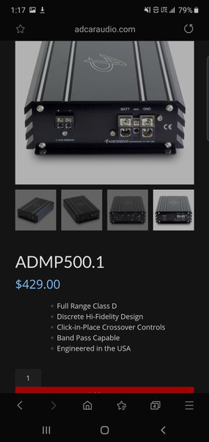 Audio dynamics pro series top tier amp brand new open to offers try before you buy for Sale in Union, KY