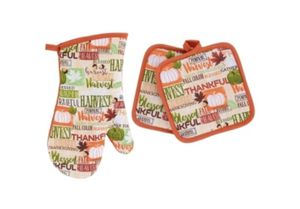 Home Collection Fall Sentiments Oven Mitta and Pot Holders for Sale in Houston, TX