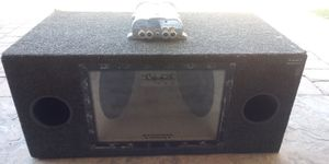 """12"""" subs and kenwood amp with bass cap ( Trade ) for Sale in Las Vegas, NV"""