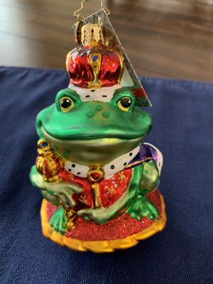 Christopher Radko Prince Charming Frog ornament for Sale in Brentwood, CA