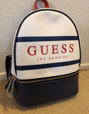 NWT! GUESS BACKPACK (White/Blue) for Sale in Fontana, CA