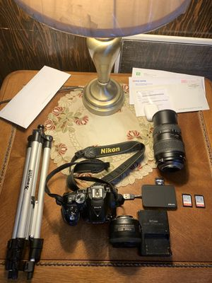 Nikon D5300 with 35mm lens and 70-200mm portrait lens for Sale in Philadelphia, PA
