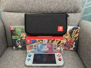 Pokémon switch lite bundle: includes Pokémon shield and Luigi mansion 3 plus switch carrying case for Sale in Overland Park, KS