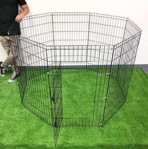 """New $45 Foldable 42"""" Tall x 24"""" Wide x 8-Panel Pet Playpen Dog Crate Metal Fence Exercise Cage Play Pen for Sale in Whittier, CA"""