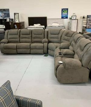 🍾🍾 Best Offer ‼ SPECIAL] McCade Cobblestone Reclining Sectional 89 for Sale in Jessup, MD