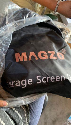 Garage Screen Door Black. Puerta de tela para garage for Sale in Bakersfield, CA