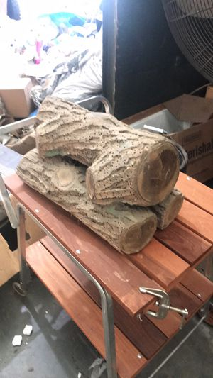 19 th century gas fireplace log for Sale in St. Louis, MO