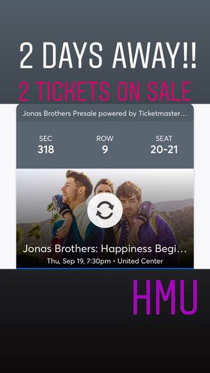 Jonas brothers tickets for Sale in Chicago, IL