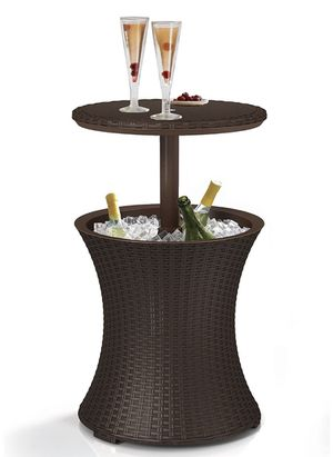 Pacific Cool Bar Outdoor Patio Furniture and Hot Tub Side Table with 7.5 Gallon Beer and Wine Cooler for Sale in Phoenix, AZ