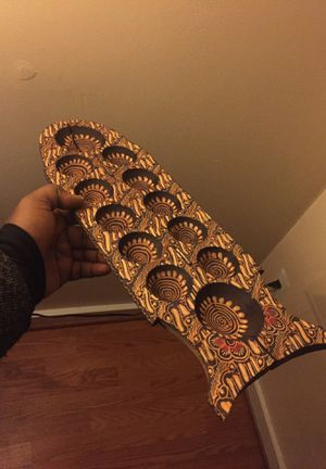 HANDMADE Mangala (ancient indigenous people game) used, wooden for Sale in Washington, DC