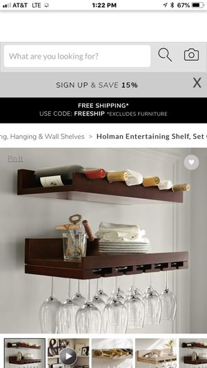 Pottery Barn wall wine rack for Sale in McLean, VA