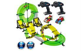 REMOKING Rail Race RC Track Car Toys 860cm Build Your Own 3D Super Track Ultimate Slot Car Playset 2 Cars 2 Remote Controller Party Game Kids Friends for Sale in Rancho Cucamonga, CA